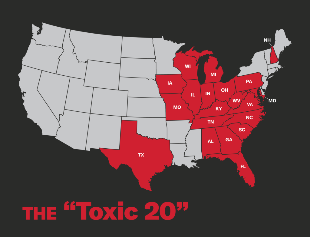 Toxic 20 States